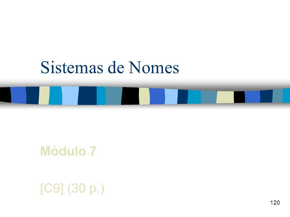 Sistemas de Nomes Módulo 7 [C9] (30 p.)